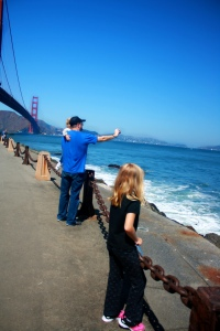 Watching dolphins and seals play in the surf at Fort Point Pier.