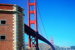 Fort Point was just sort of built around when the Golden Gate was erected.