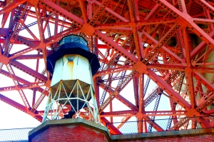 A view of the Fort Point lighthouse.